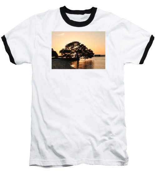Sunset Silhouette Baseball T-Shirt