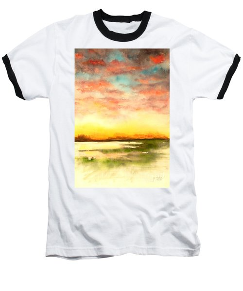 Sunset Baseball T-Shirt by Yoshiko Mishina