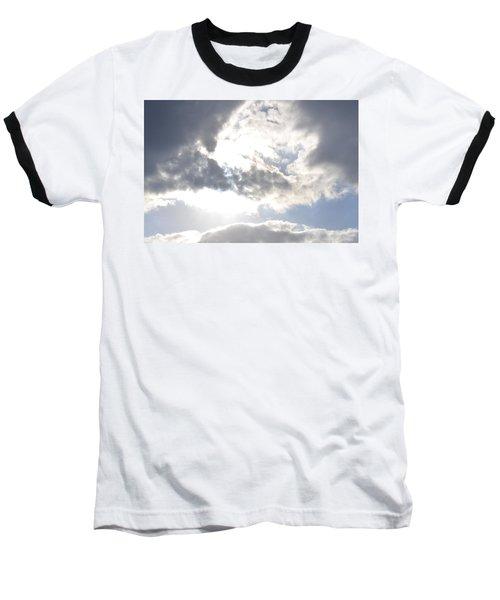 Baseball T-Shirt featuring the photograph Sunshine Through The Clouds by Tara Potts