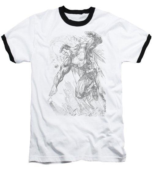 Superman - Pencil City To Space Baseball T-Shirt