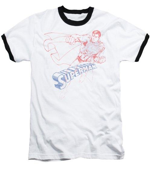 Superman - Sketch Baseball T-Shirt