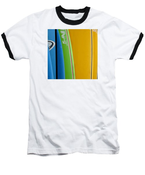 Surf Boards Baseball T-Shirt by Art Block Collections