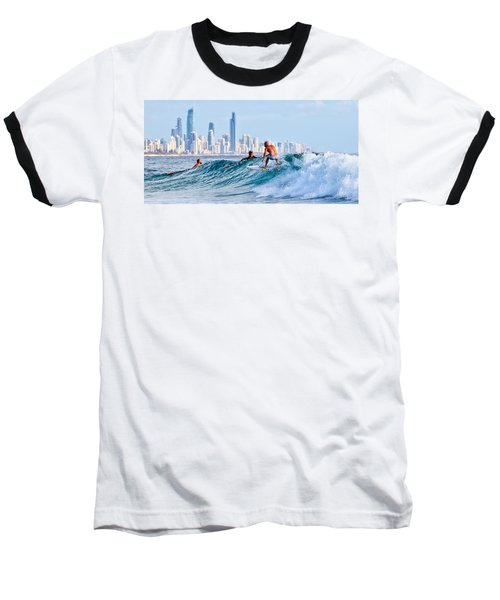 Surfing Burleigh Baseball T-Shirt