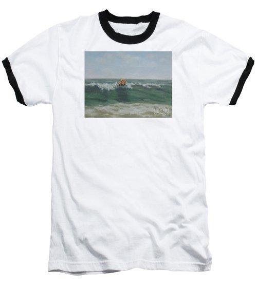 Surfing Golden Baseball T-Shirt