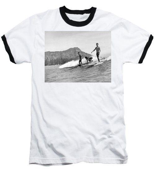Surfing In Honolulu Baseball T-Shirt