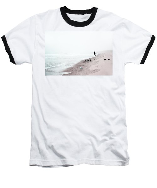 Surfing Where The Ocean Meets The Sky Baseball T-Shirt by Brooke T Ryan