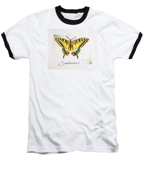 Swallowtail - Butterfly Baseball T-Shirt by Katharina Filus
