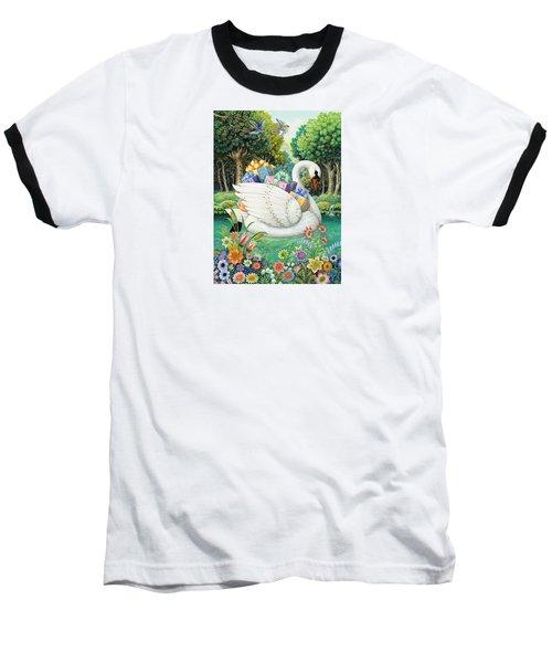 Swan Boat Baseball T-Shirt
