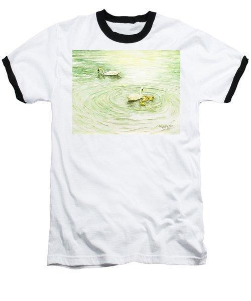 Swans In St. Pierre Baseball T-Shirt