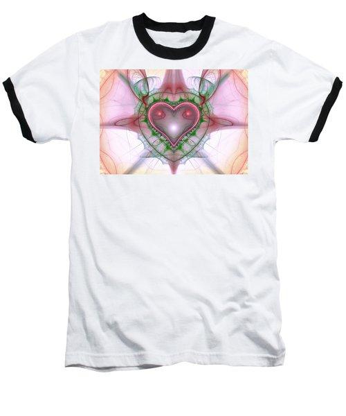 Sweetheart Fractal Baseball T-Shirt