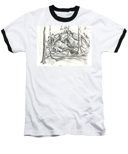 Swirling Cast Shadows At Elephant Rocks  No Ctc101 Baseball T-Shirt