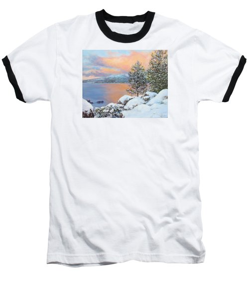 Tahoe Winter Colors Baseball T-Shirt by Donna Tucker