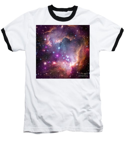 Baseball T-Shirt featuring the  Taken Under The Wing Of The Small Magellanic Cloud by Paul Fearn