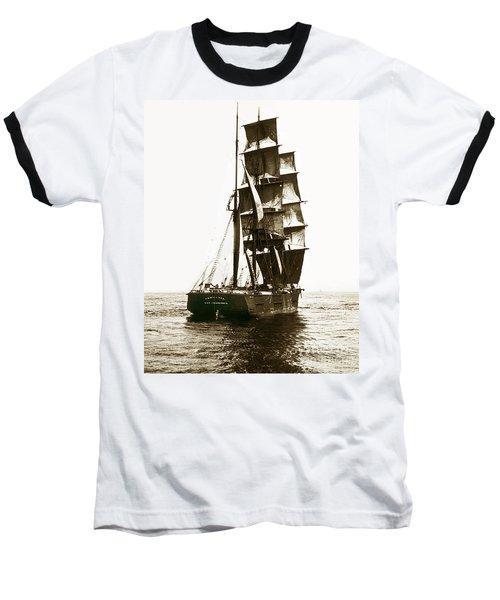 Baseball T-Shirt featuring the photograph Tall Ship Germania Out Of San Francisco California  Circa 1900 by California Views Mr Pat Hathaway Archives