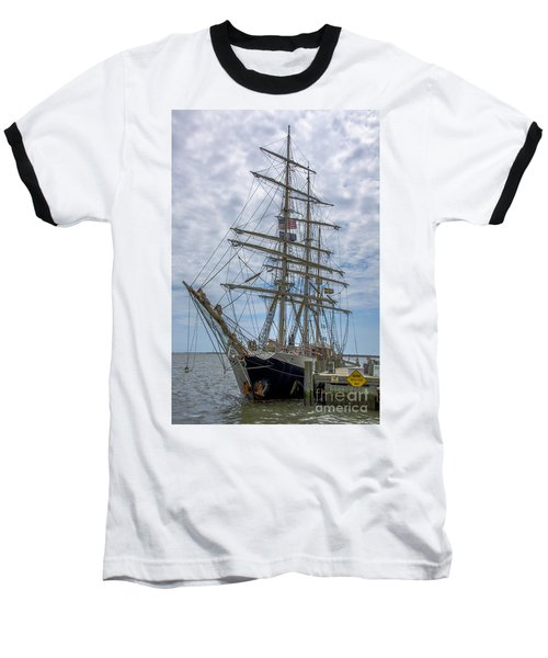 Baseball T-Shirt featuring the photograph Tall Ship Gunilla Vertical by Dale Powell