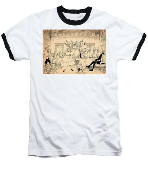 Baseball T-Shirt featuring the drawing Tammy In Indpendence Hall by Reynold Jay