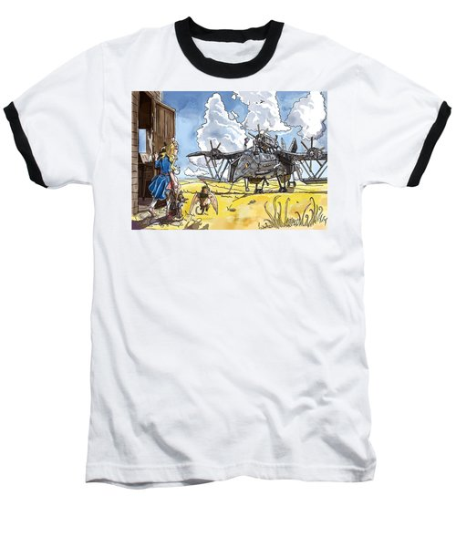 Baseball T-Shirt featuring the painting Tammy Sees A Thingamajig by Reynold Jay