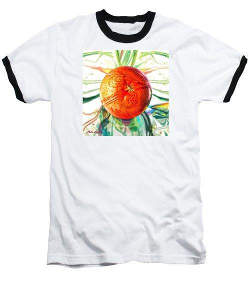 Tangerine Orb Nouveau Baseball T-Shirt