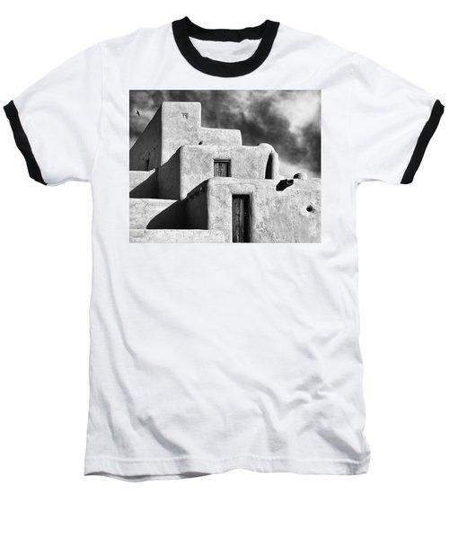 Taos Pueblo Stacks Baseball T-Shirt by Gary Warnimont