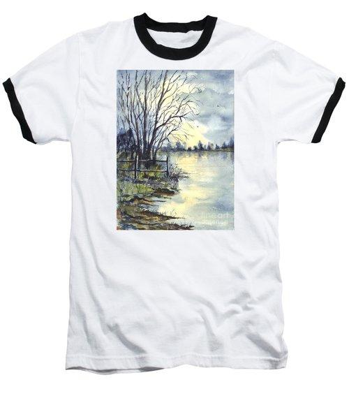 Moonlight Reflections In Loch Tarn In Scotland Baseball T-Shirt by Carol Wisniewski