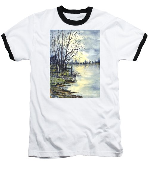 Moonlight Reflections In Loch Tarn In Scotland Baseball T-Shirt