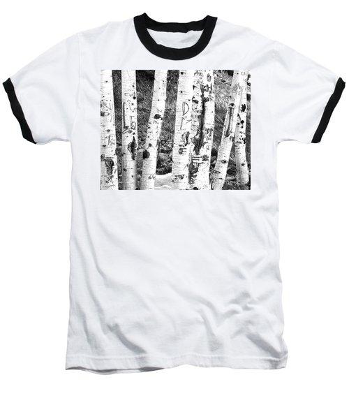 Tattoo Trees Baseball T-Shirt by Rebecca Margraf