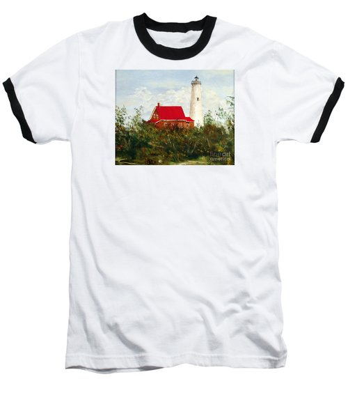 Baseball T-Shirt featuring the painting Tawas by Lee Piper