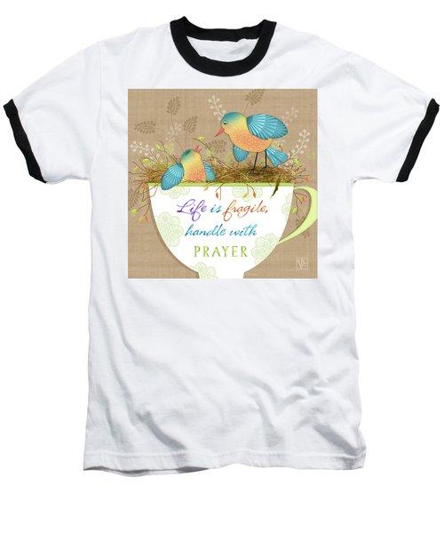 Tea Cup Wisdom Baseball T-Shirt