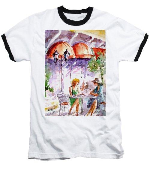 Baseball T-Shirt featuring the painting Tea Time...  by Faruk Koksal