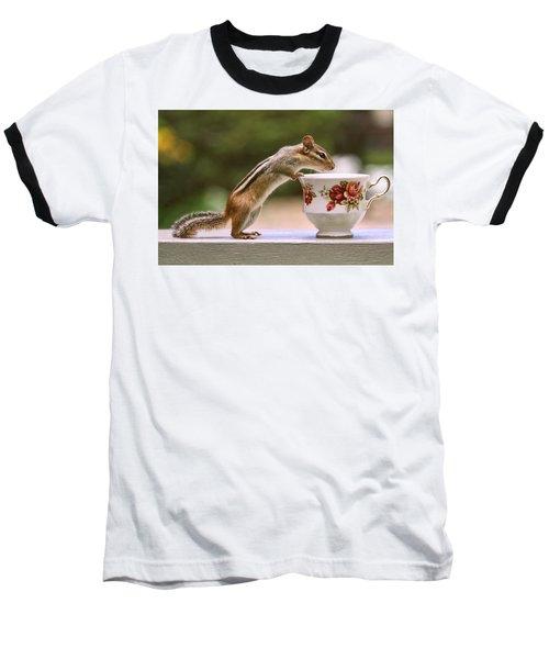 Tea Time With Chipmunk Baseball T-Shirt