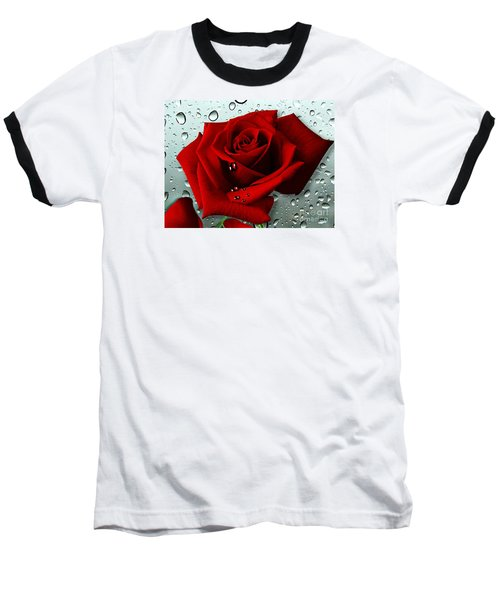 Baseball T-Shirt featuring the mixed media Tears From My Heart by Morag Bates