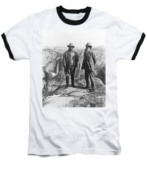 Teddy Roosevelt And John Muir Baseball T-Shirt