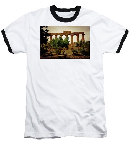 Temple Of Juno Lacinia In Agrigento Baseball T-Shirt