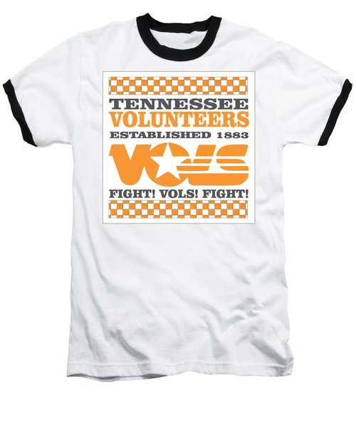 Tennessee Volunteers Fight Baseball T-Shirt by Debbie Karnes