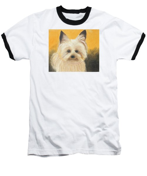 Baseball T-Shirt featuring the painting Terrier by Jeanne Fischer