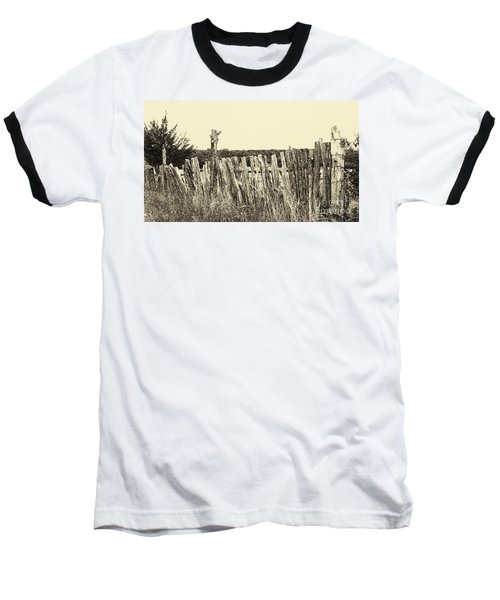 Texas Fence In Sepia Baseball T-Shirt