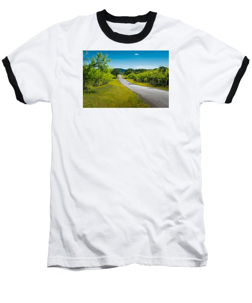Texas Hill Country Road Baseball T-Shirt by Darryl Dalton