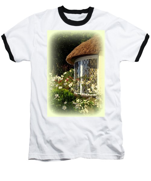 Thatched Cottage Window Baseball T-Shirt