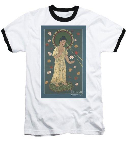 The Amitabha Buddha Descending 247 Baseball T-Shirt by William Hart McNichols