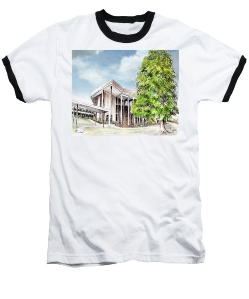 The Angles Of A Modern Architecture  Baseball T-Shirt by Danuta Bennett
