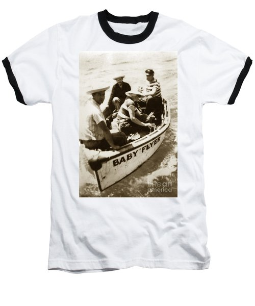 The Baby Flyer With Ed Ricketts And John Steinbeck  In Sea Of Cortez  1940 Baseball T-Shirt