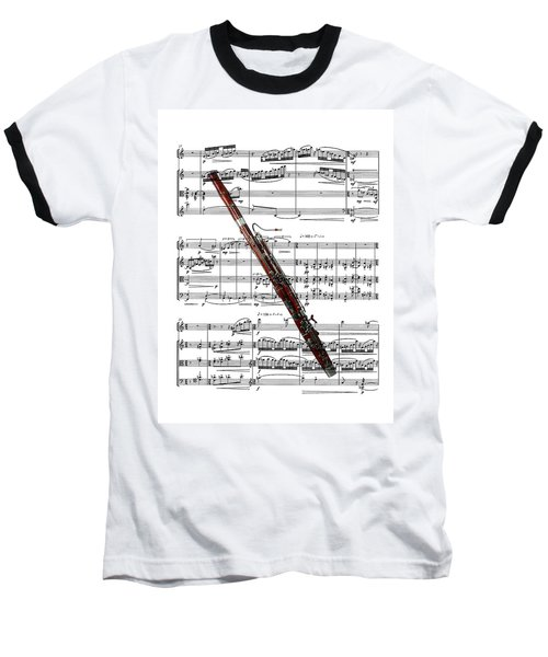 The Bassoon Baseball T-Shirt by Ron Davidson