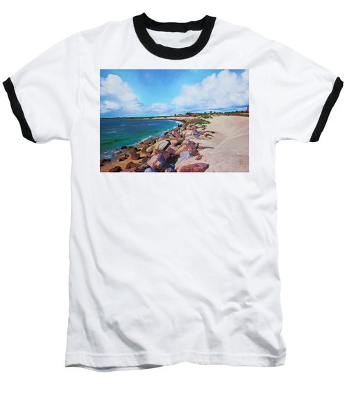 The Beach At Ponce Inlet Baseball T-Shirt