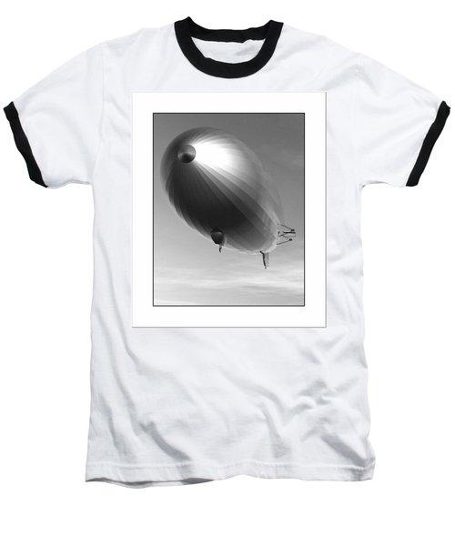 Baseball T-Shirt featuring the digital art The Blimp... by Tim Fillingim