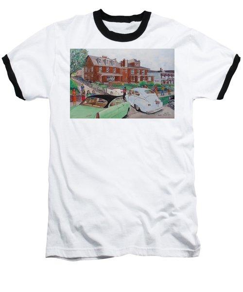 The Car Movers Of Phi Sigma Kappa Osu 43 E. 15th Ave Baseball T-Shirt by Frank Hunter