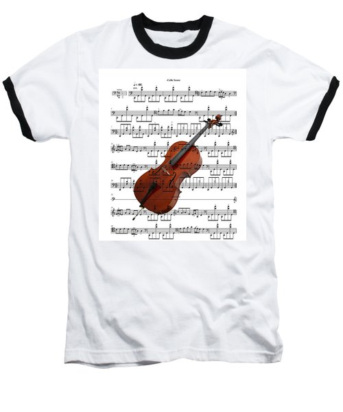 The Cello Baseball T-Shirt by Ron Davidson