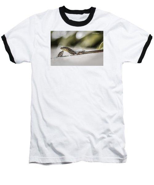 Baseball T-Shirt featuring the photograph The Charming Lizards by Stwayne Keubrick