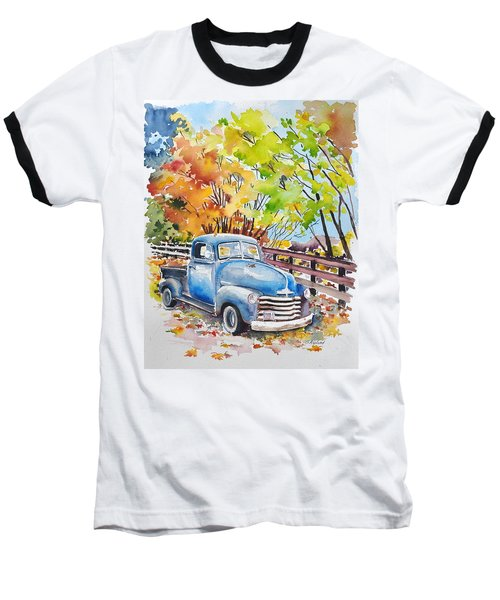 The Old Chevy In Autumn Baseball T-Shirt
