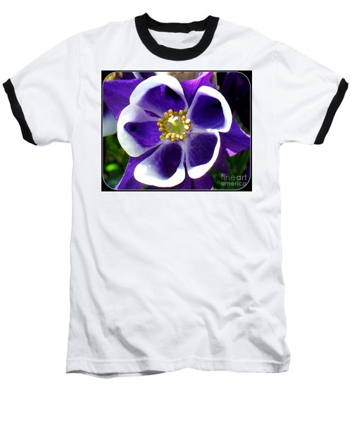 Baseball T-Shirt featuring the photograph The Columbine Flower by Patti Whitten
