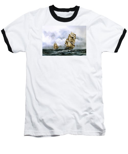 The Cutty Sark And The Red Clipper Baseball T-Shirt
